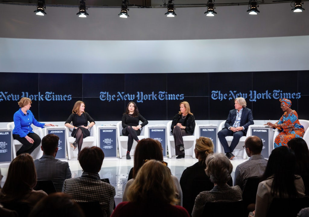 "The Session ""Gender, Power and Stemming Sexual Harassment"" at the World Economic Forum in Davos 