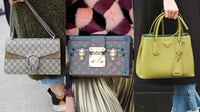 From left: Louis Vuitton 'Petite Malle'; Gucci 'Dionysus'; Prada 'Galleria' handbags | Source: Shutterstock