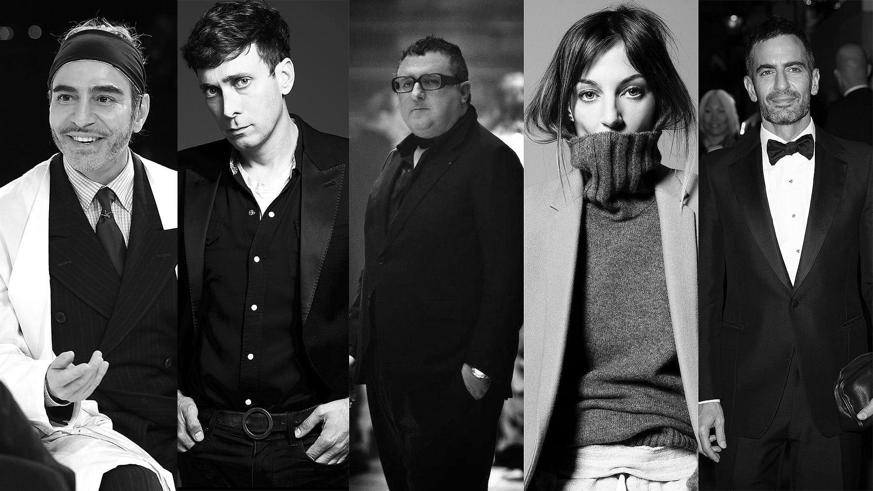 From left: John Galliano, Hedi Slimane, Alber Elbaz, Phoebe Philo and Marc Jacobs | Source: Courtesy