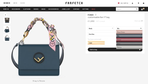 3cb15864f3b Fendi partnered with Farfetch to develop a customisation software