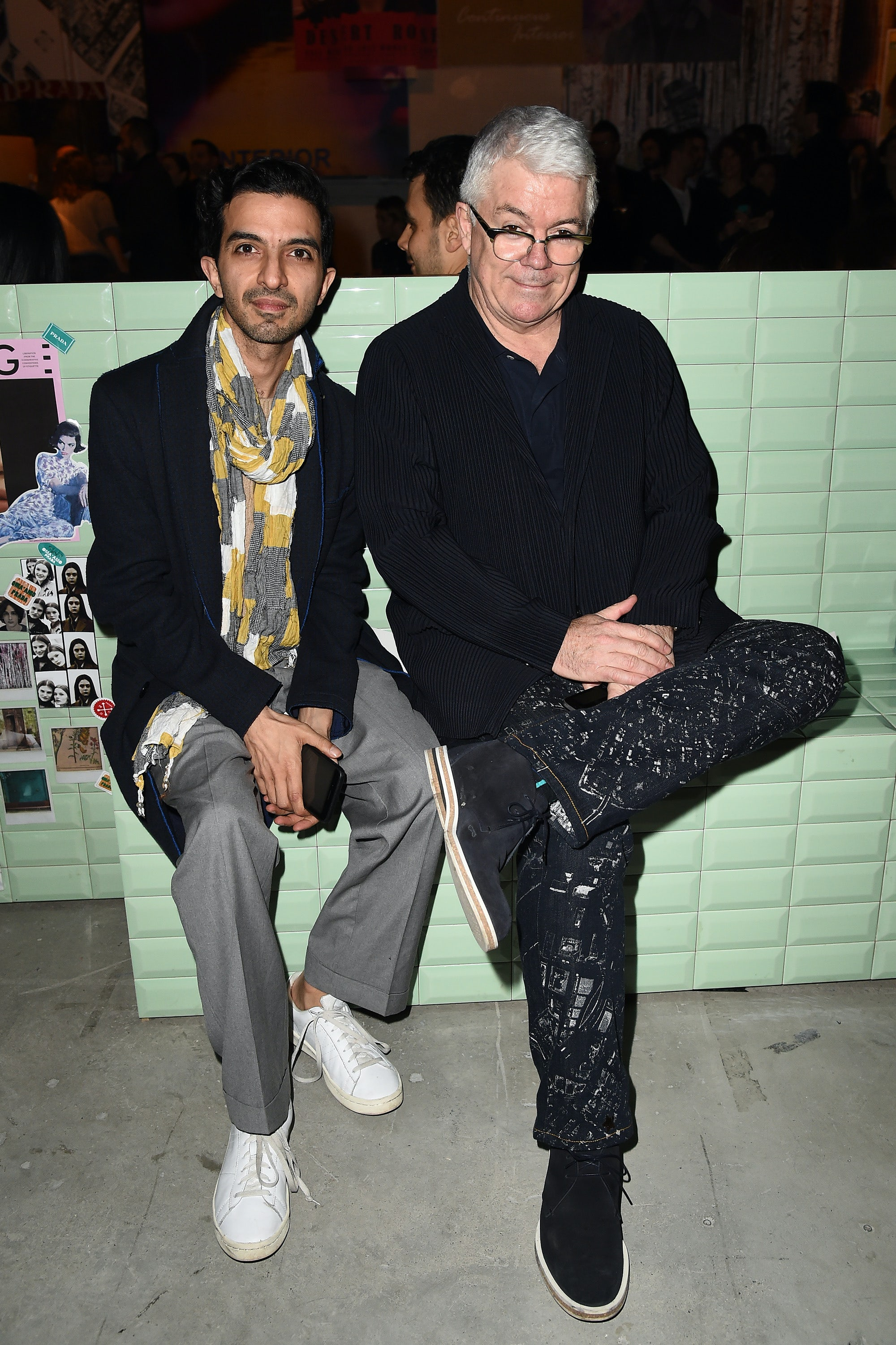 Imran Amed and Tim Blanks | Photo: Jacopo Raule for Getty Images
