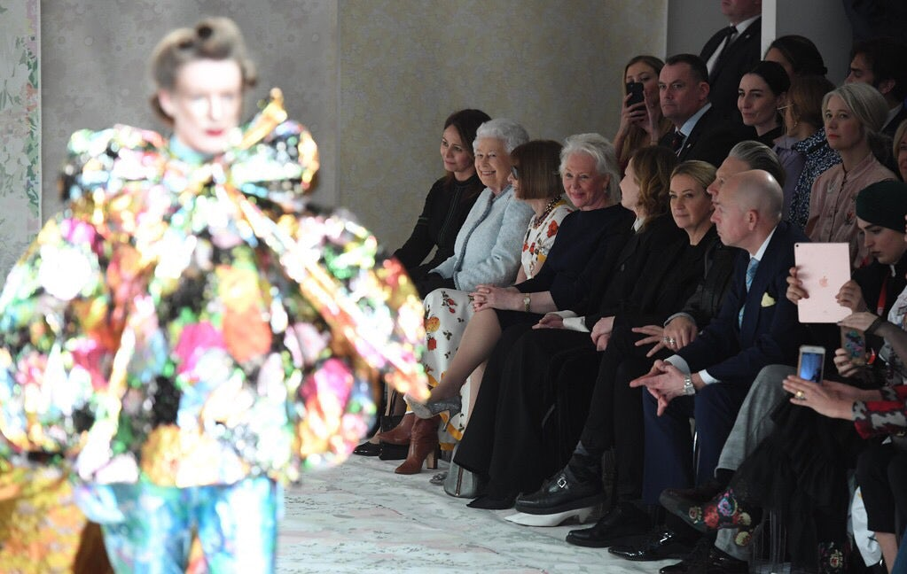 The Queen attends Richard Quinn's first runway show | Source: Getty