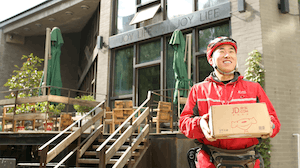 A JD.com deliveryman | Source: JD.com