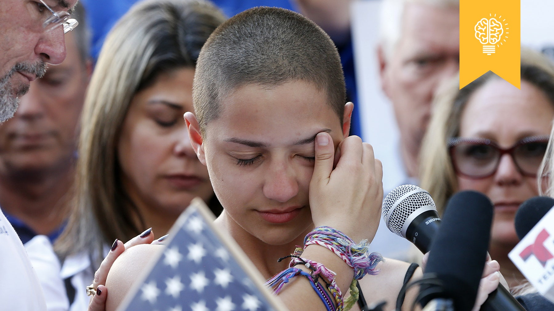 High school student Emma González speaks at a rally for gun control in Florida | Source: Getty