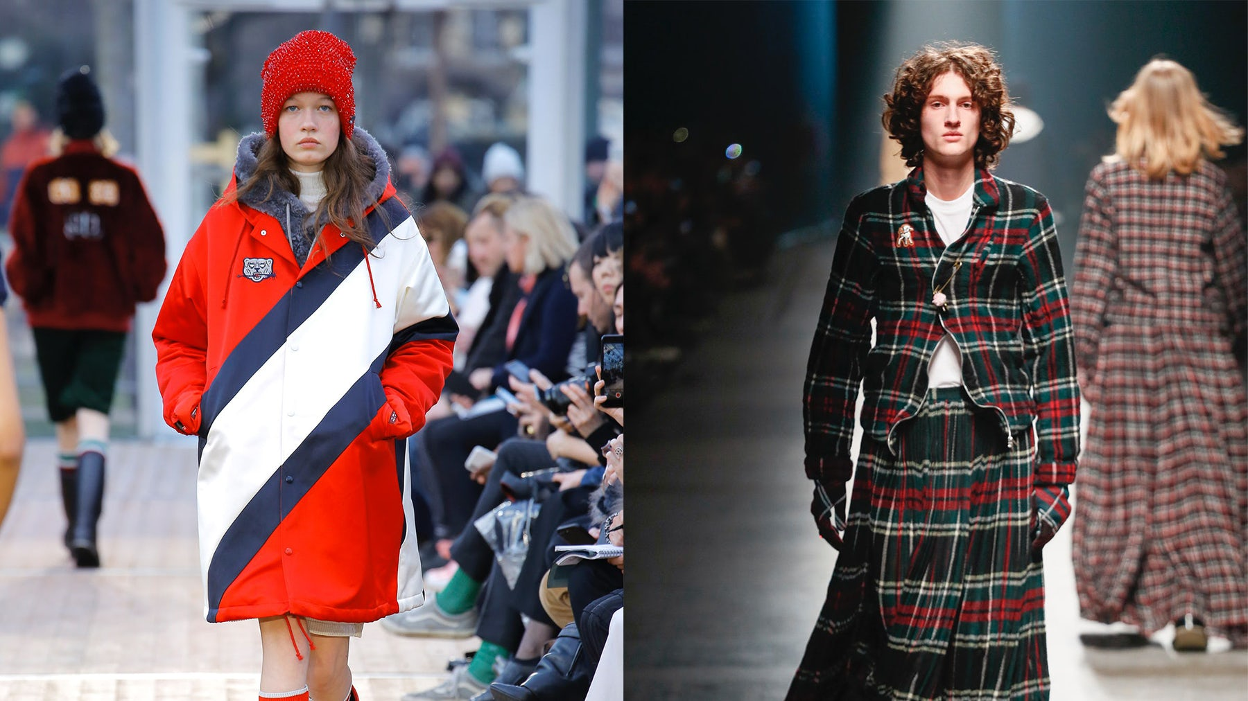 Left: Undercover women's AW18; right: men's AW18 | Source: Indigital