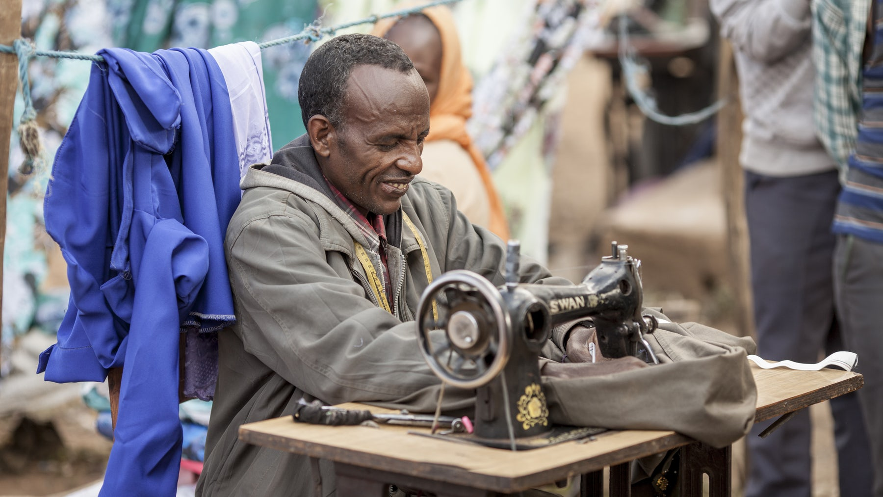 Fast-fashion factory worker in Ethiopia | Source: Shutterstock