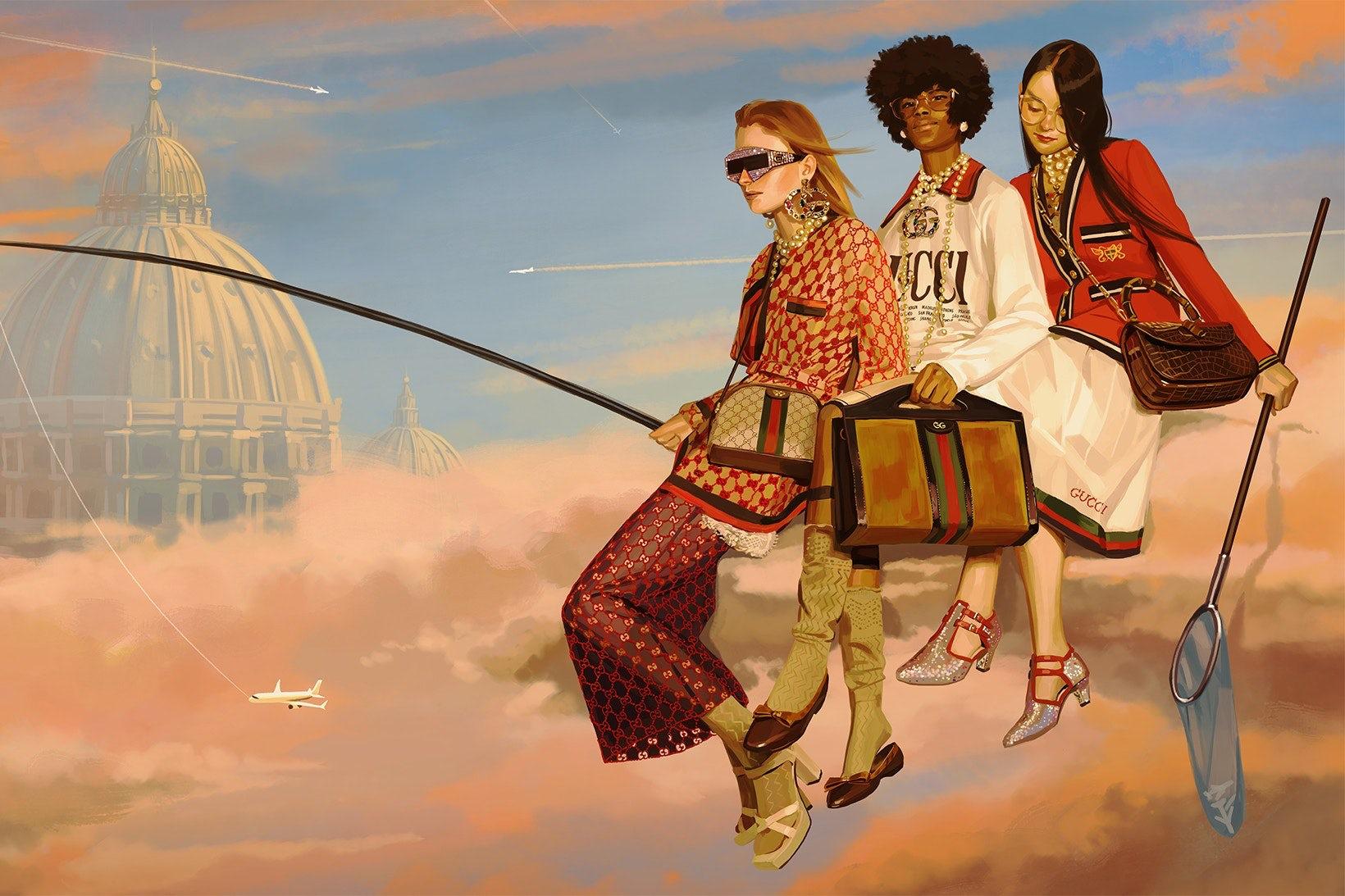 Gucci Spring/Summer 2018 | Illustration by Ignasi Moreal