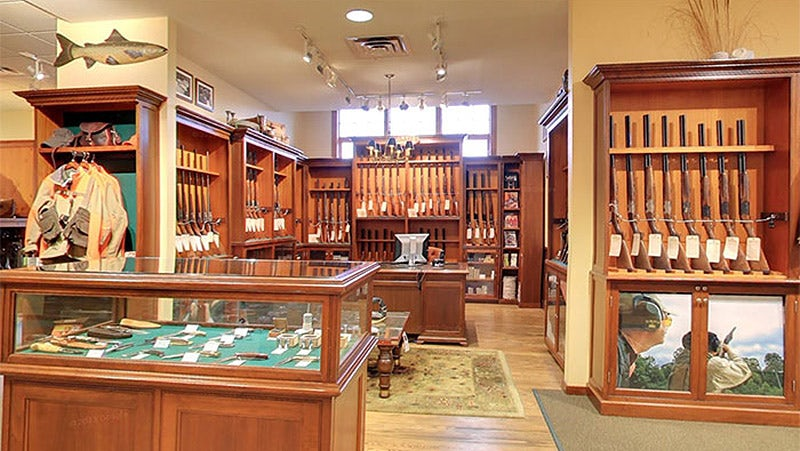 The gun room at the Orvis flagship store in Vermont | Source: Orvis