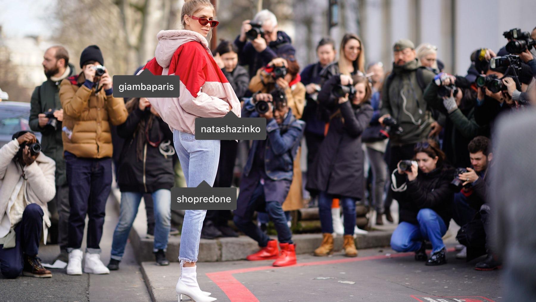 Lena Perminova at Paris Fashion Week Autumn/Winter 2018 | Source: Getty Images