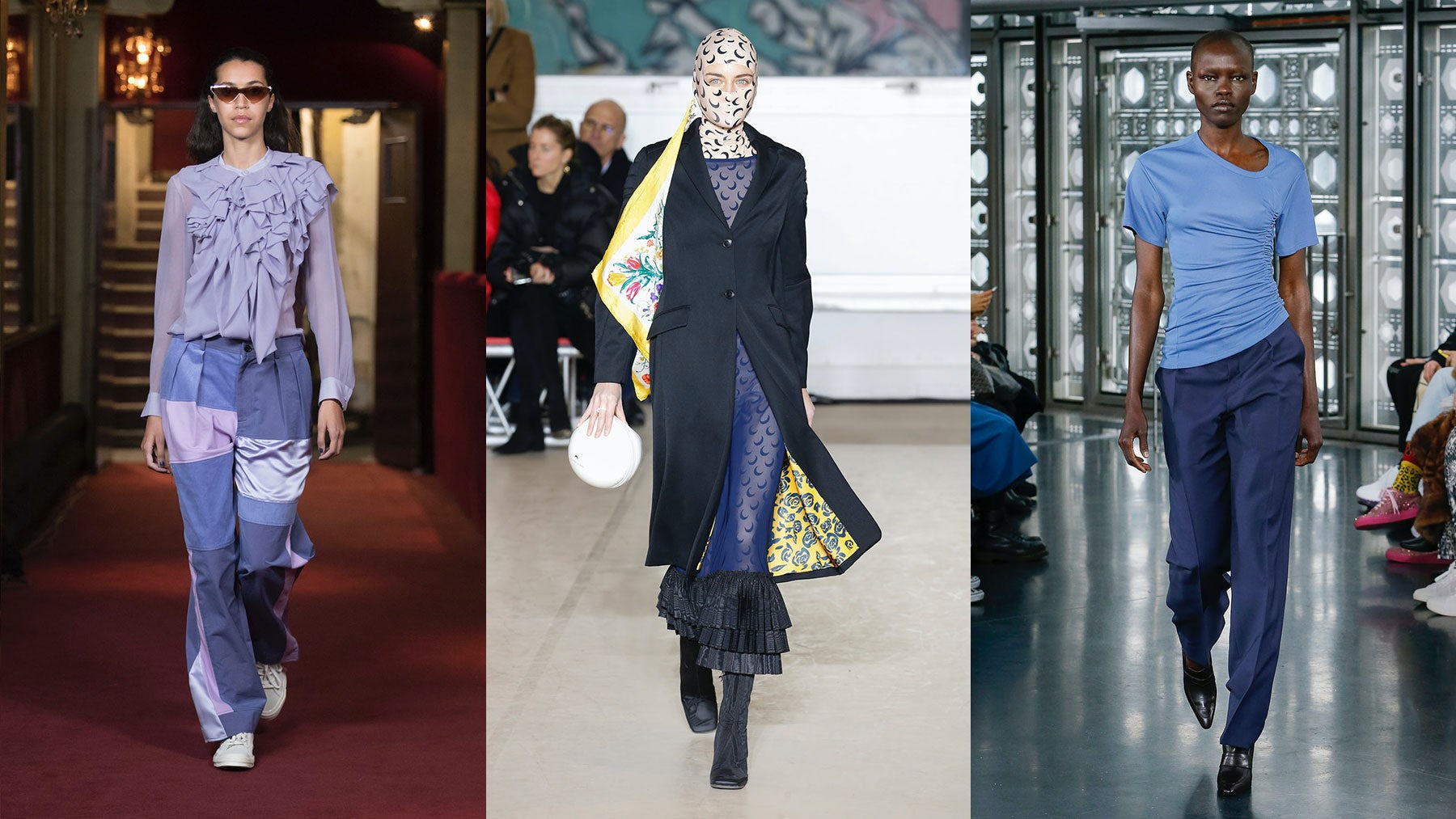 Autumn/Winter 2018 catwalk looks by Koché, Marine Serre and Atlein | Sources: Courtesy, Indigial, Indigital
