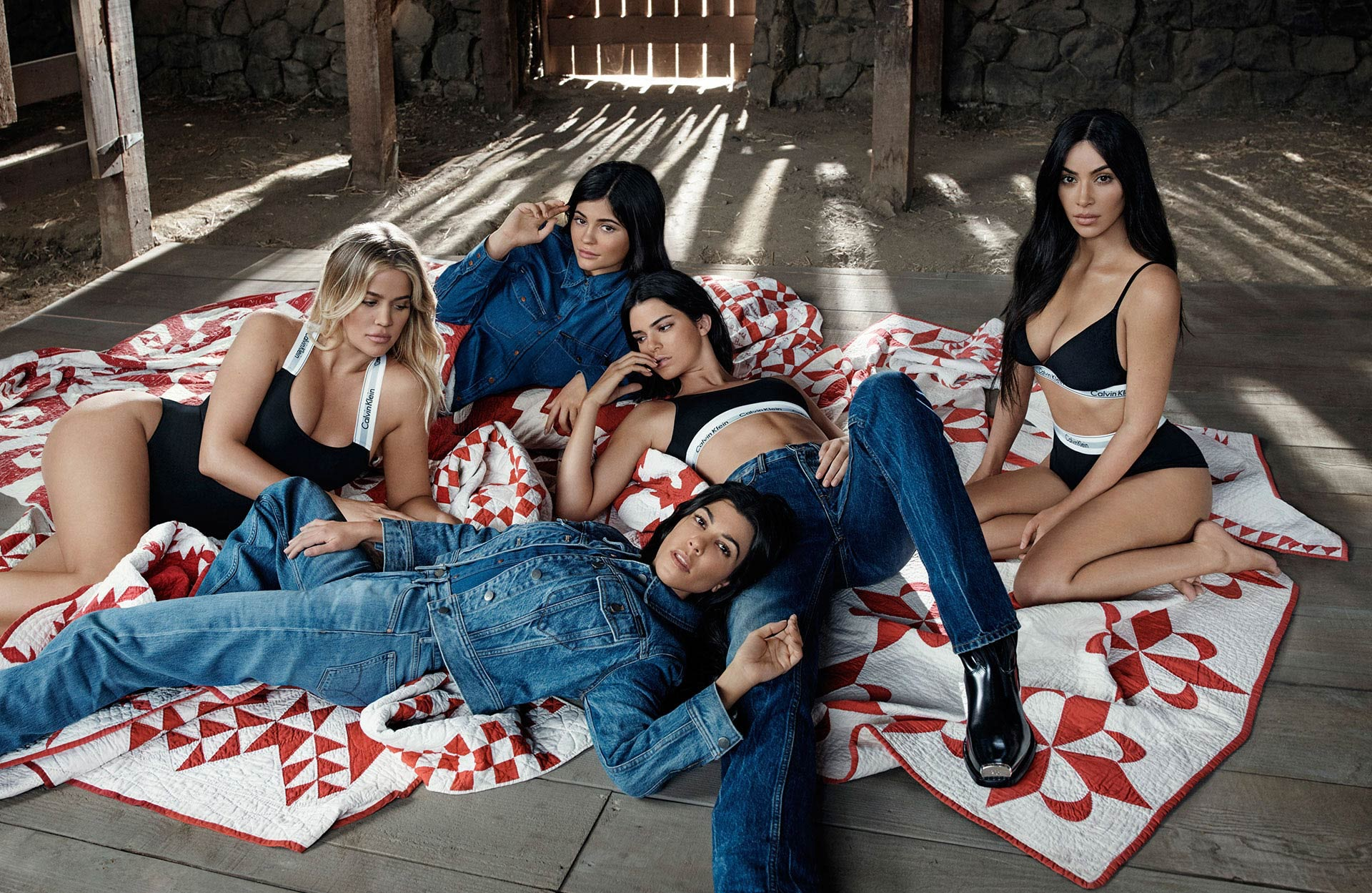 Calvin Klein campaign featuring the Kardashian-Jenner sisters | Source: Calvin Klein