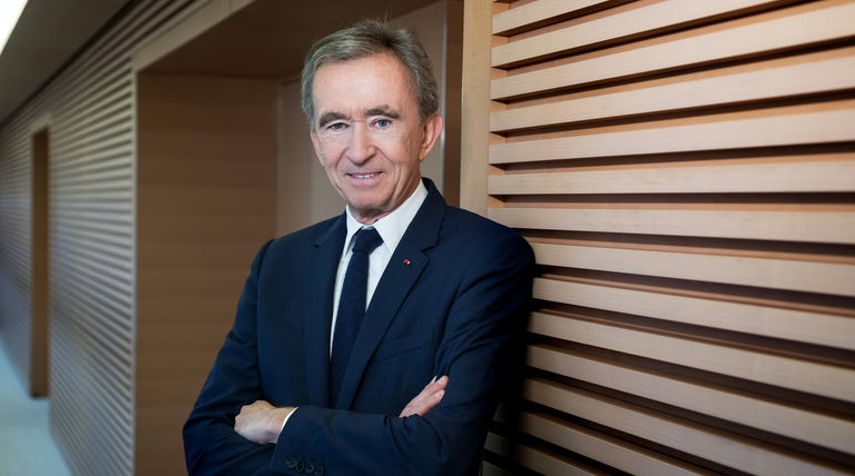 Bernard Arnault, chairman of LVMH at his office in Paris | Photo: Magali Delporte