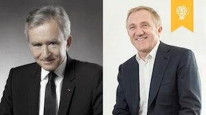 (L-R) LVMH's Bernard Arnault, Kering's François-Henri Pinault   Source: Courtesy and Nicolas Morice