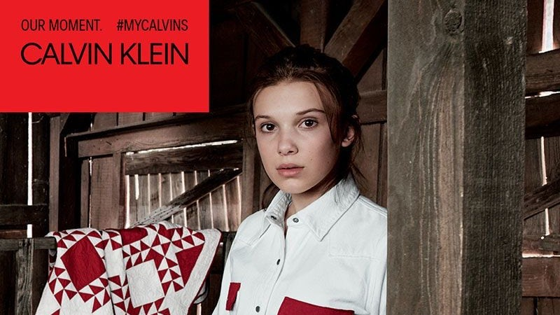 Millie Bobby Brown in a Calvin Klein ad campaign | Source: Courtesy