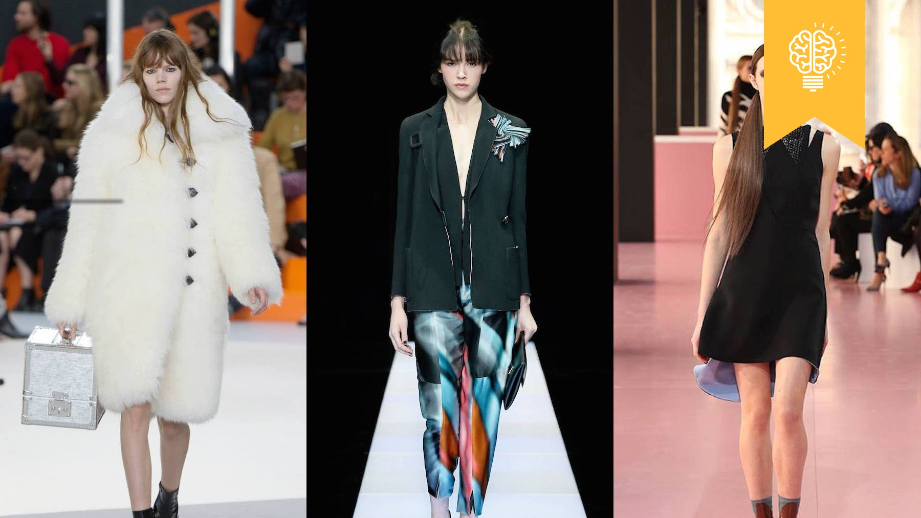 Ready-to-wear looks from Louis Vuitton, Giorgio Armani and Dior  Source: Courtesy