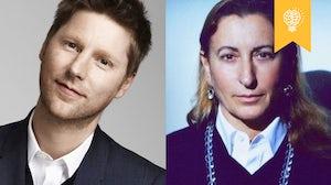 Christopher Bailey and Miuccia Prada | Source: Courtesy, Manuela Pavesi