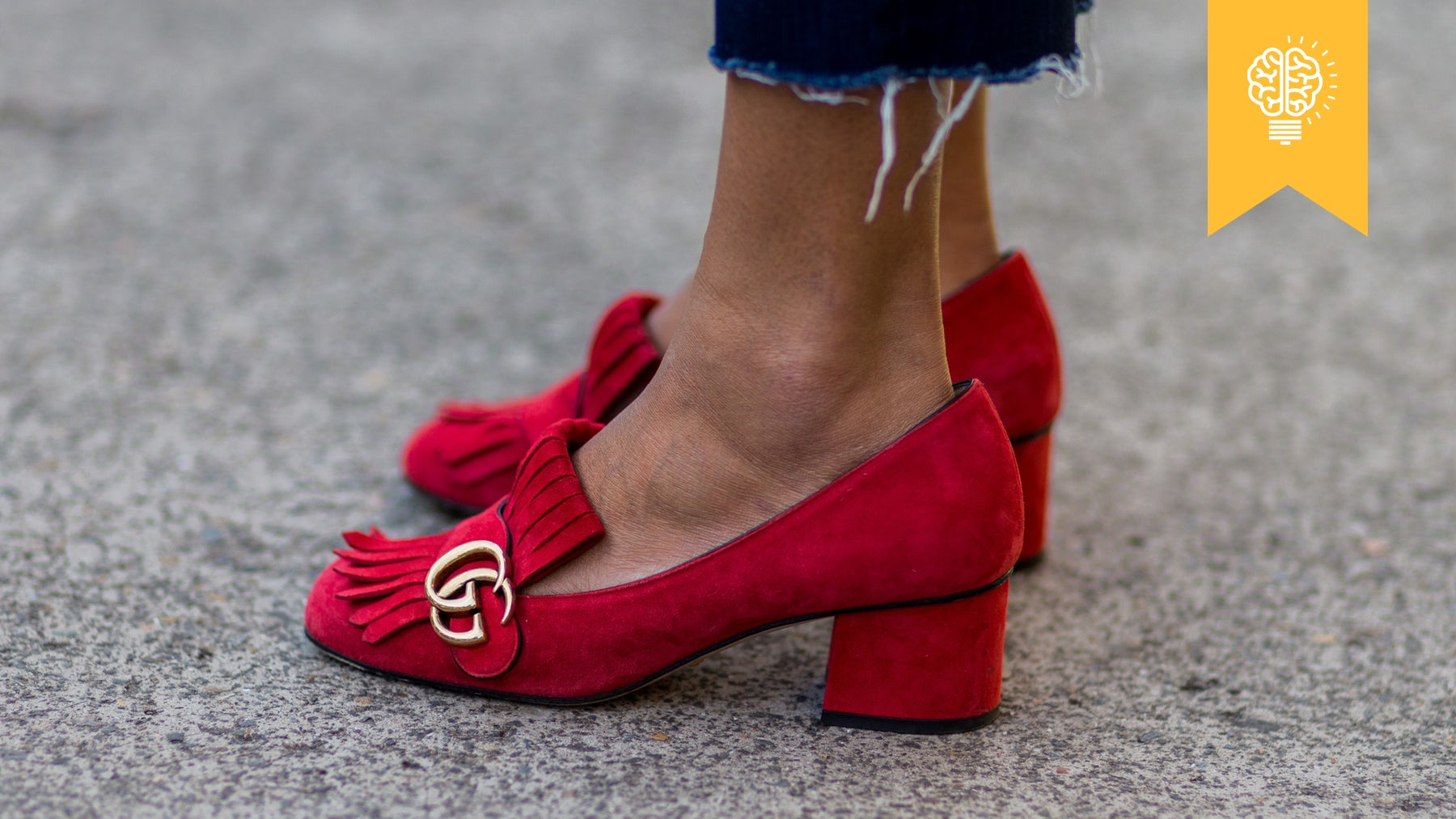 Red Gucci loafers | Source: Christian Vierig/WireImage