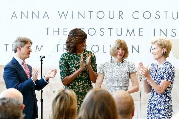 Anna Wintour at the opening of the Anna Wintour Costume Center