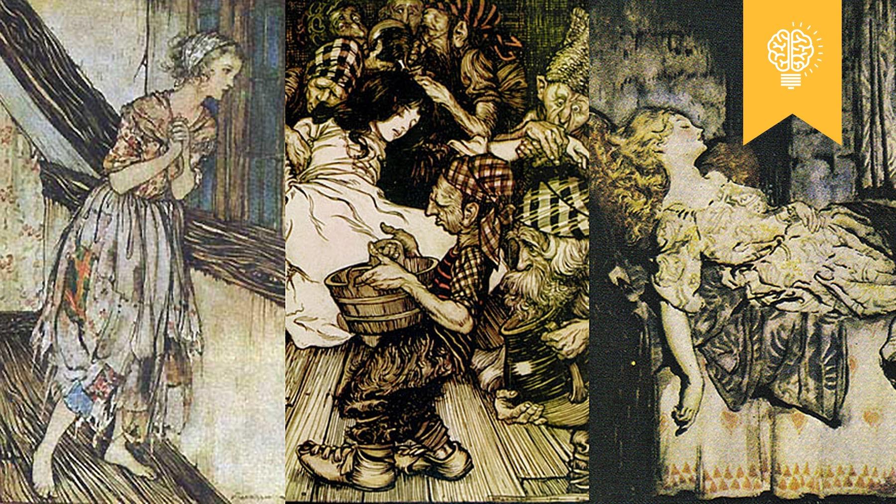 Arthur Rackham's Cinderella, Snow White and Sleeping Beauty   Source: Wikimedia Commons