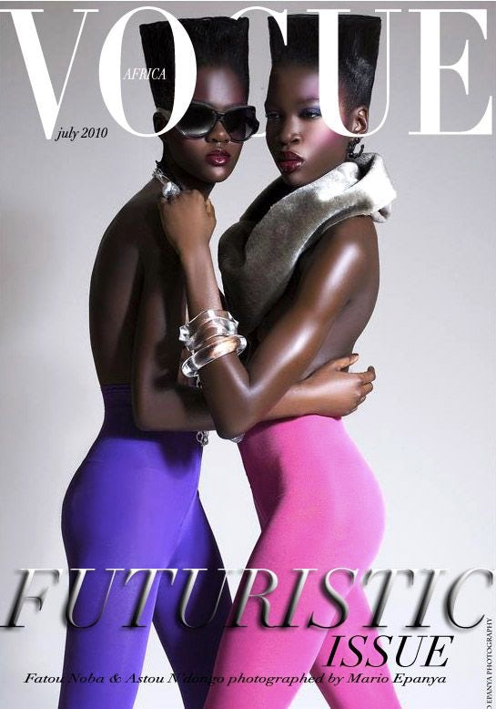 A fictional interpretation of Vogue Africa by Mario Epanya | Source: Courtesy