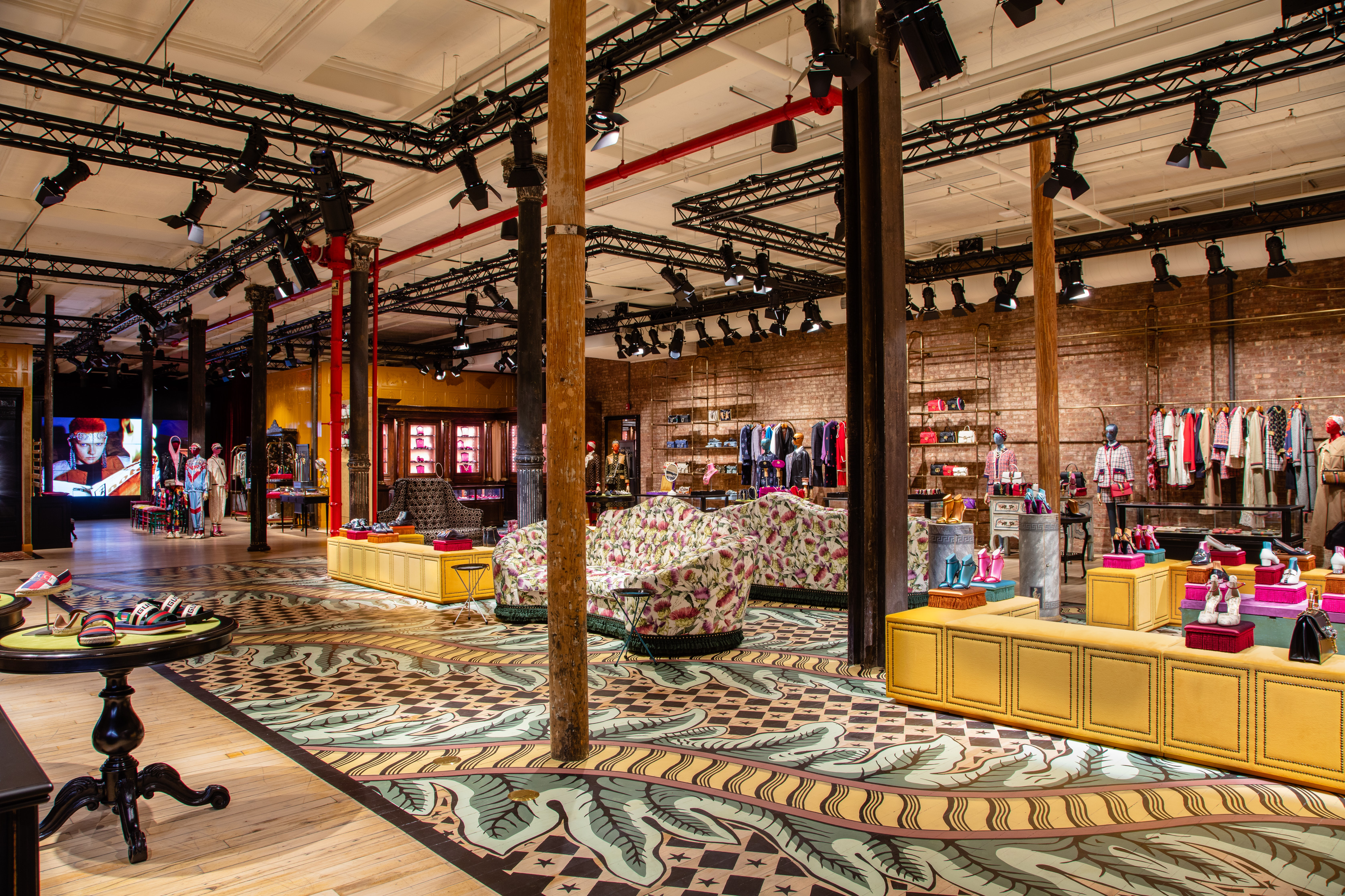 Gucci's new store in Soho is designed to entice shoppers to linger. | Source: Courtesy