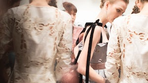 Backstage at the Brock Collection F/W 2018 runway show | Courtesy
