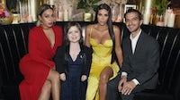 Lala Anthony, Sinead Burke, Kim Kardashian and Imran Amed | Source: Dimitrios Kambouris/Getty Images