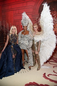 Donatella Versace, Rihanna and Katy Perry attend tthe 2018 Costume Institute Gala. | Photo: Getty