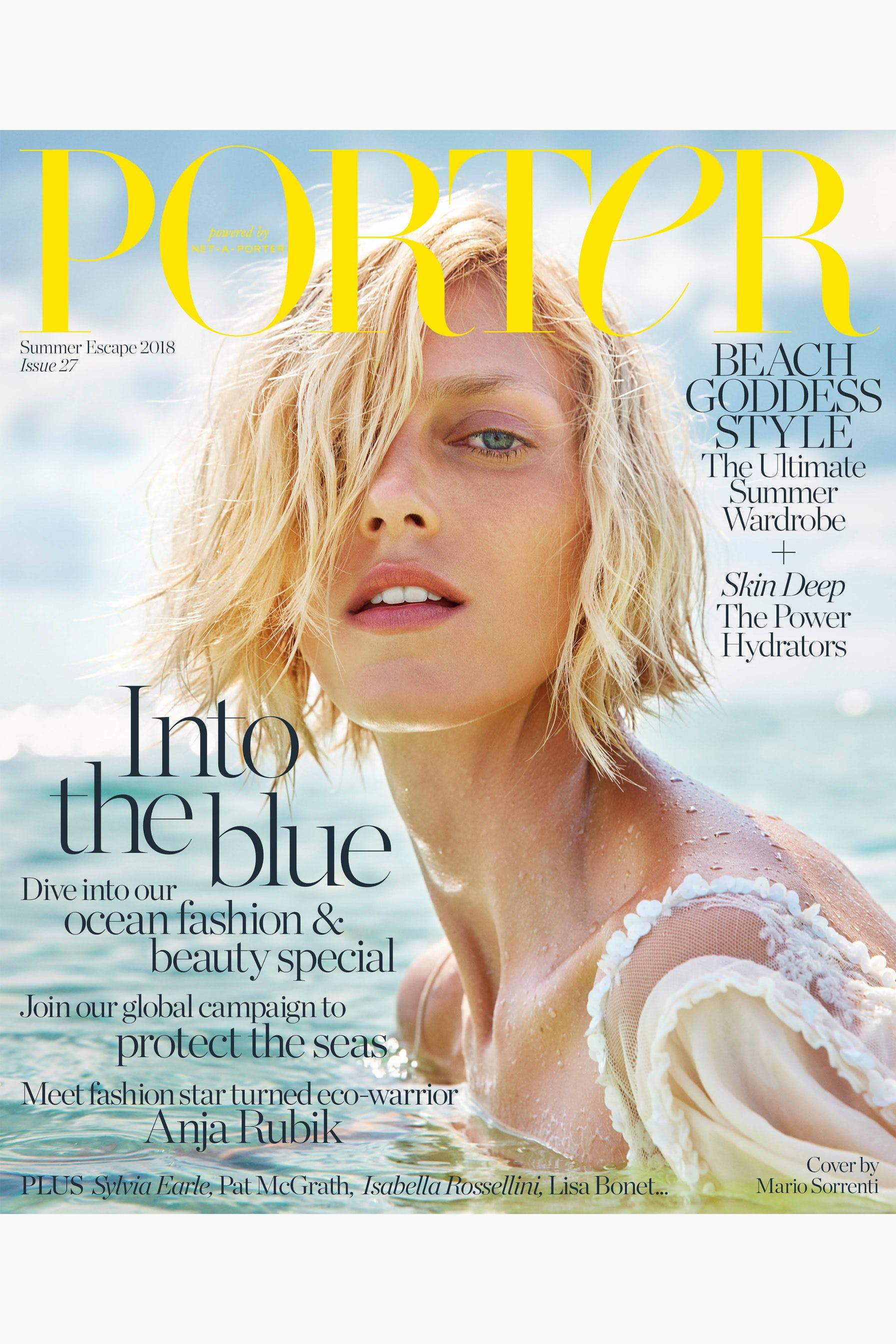"""Porter Magazine's """"Summer Escape"""" cover   Source: Courtesy"""