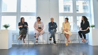 Raina Penchansky, Nicolette Mason, Bryan Grey Yambao, Gigi Guerra and Lauren Sherman   Source: Mike Coppola/Getty Images