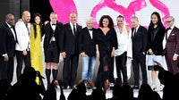 Jeffrey Banks, John Varvatos, Vera Wang, Thom Browne, Michael Kors, Ralph Lauren, Diane Von Frustenberg, Donna Karan, Jason Wu, Alexander Wang and Tommy Hilfiger at the CFDA Awards | Source: Theo Wargo/Getty Images