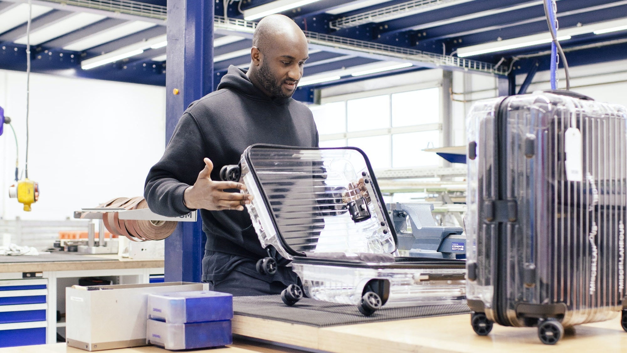 Virgil Abloh and Rimowa x Off-White | Source: Courtesy