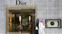 Two Turkish women shopping at the Dior boutique in Zorlu shopping mall in Istanbul, Turkey | Source: Getty Images