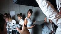 Model on set | Source: Unsplash