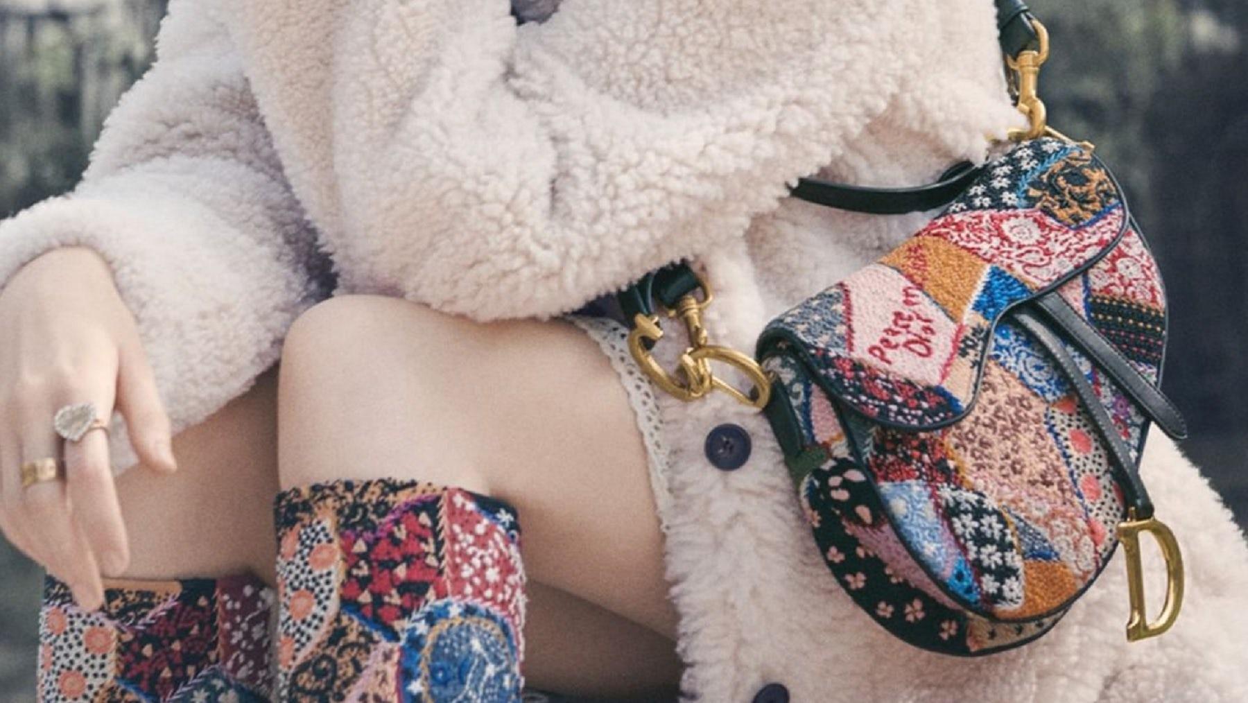 Dior saddle bag | Source: Pamela Hanson for Dior