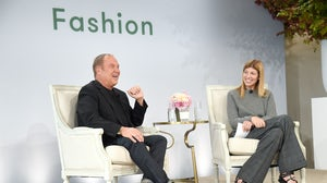 Virginia Smith interviews Michael Kors at Vogue's Forces of Fashion conference in 2017 | Source: Kevin Mazur/Getty Images