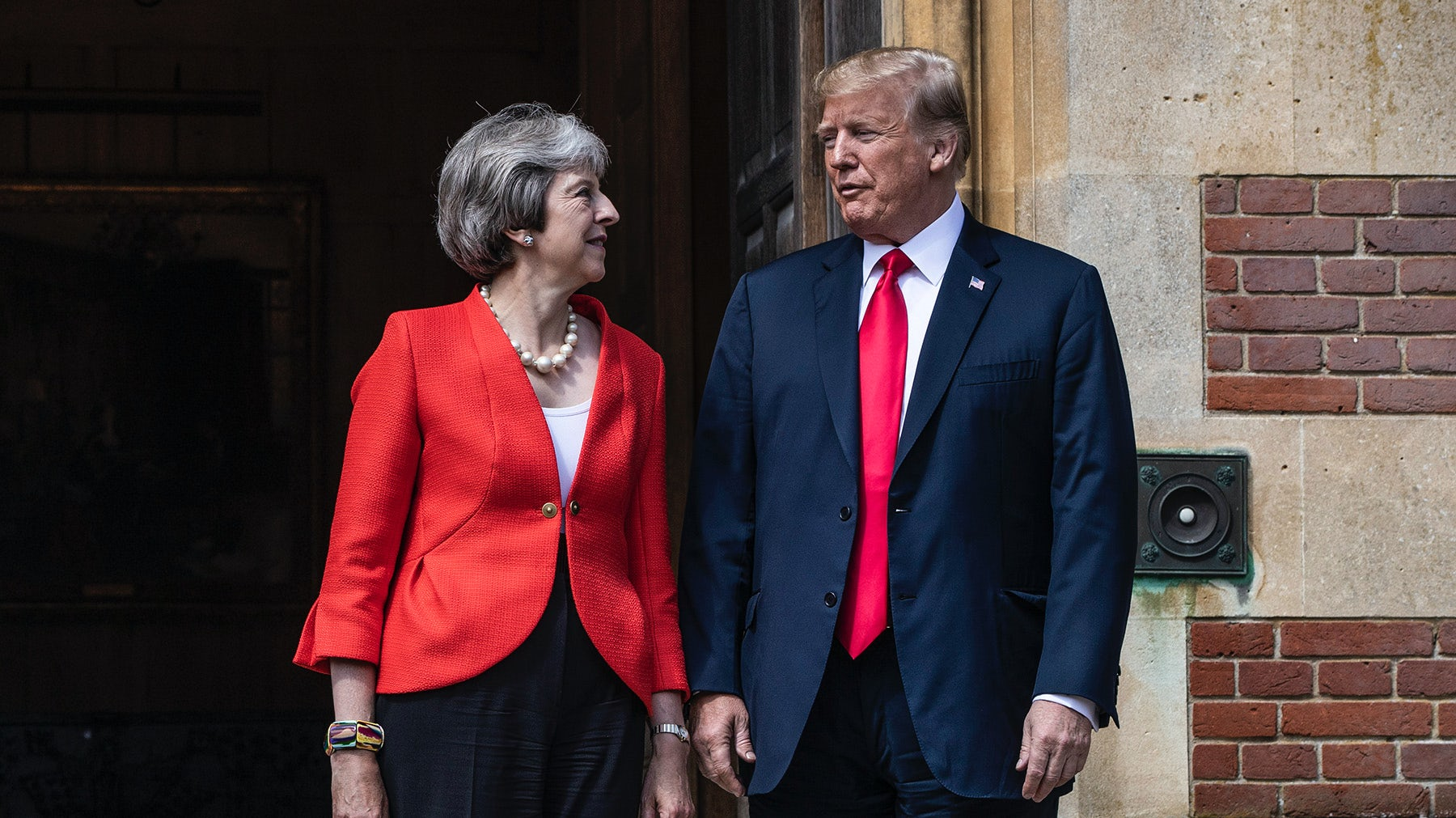 British prime minister Theresa May and US president Donald Trump | Source: Getty