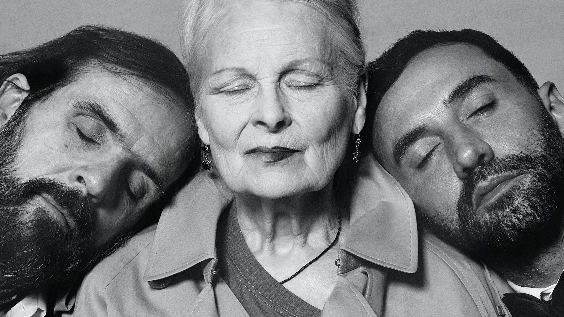 Andreas Kronthaler, Vivienne Westwood and Riccardo Tisci | Photo: Brett Lloyd for Burberry