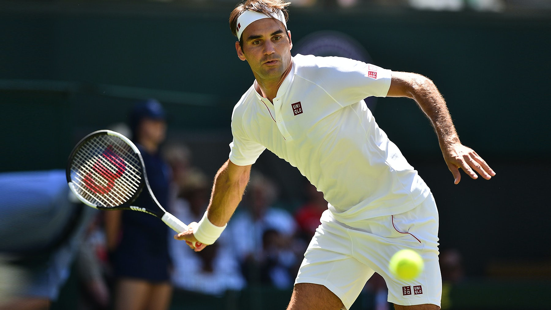 Roger Federer wearing Uniqlo   Source: Getty