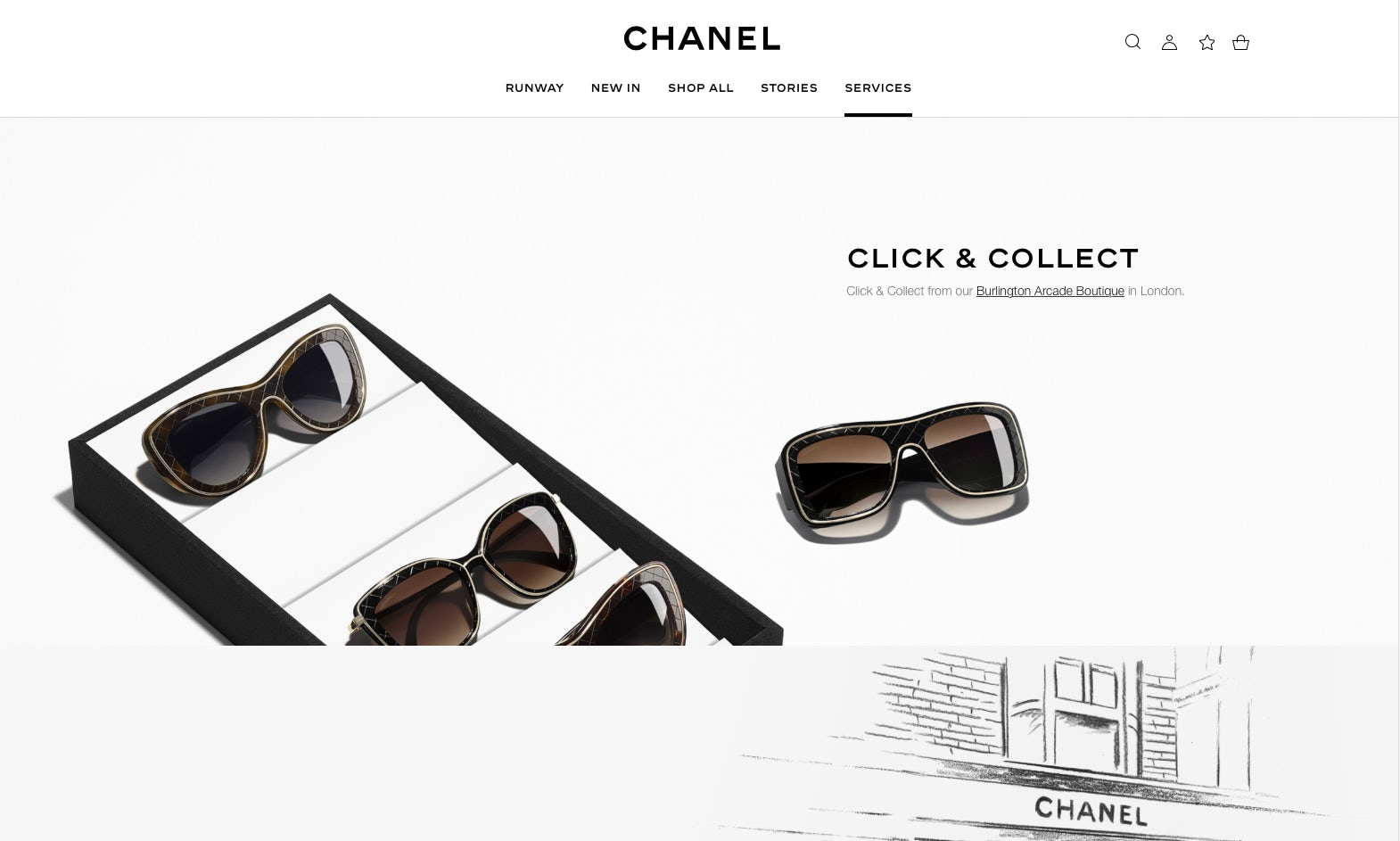 Chanel UK e-commerce site