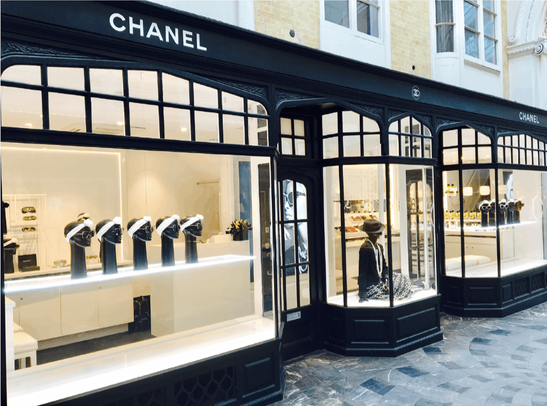 Chanel's eyewear store in London's Burlington Arcade. | Source: Courtesy