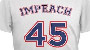 An 'Impeach 45' T-shirt sold on Walmart   Source: Walmart.com