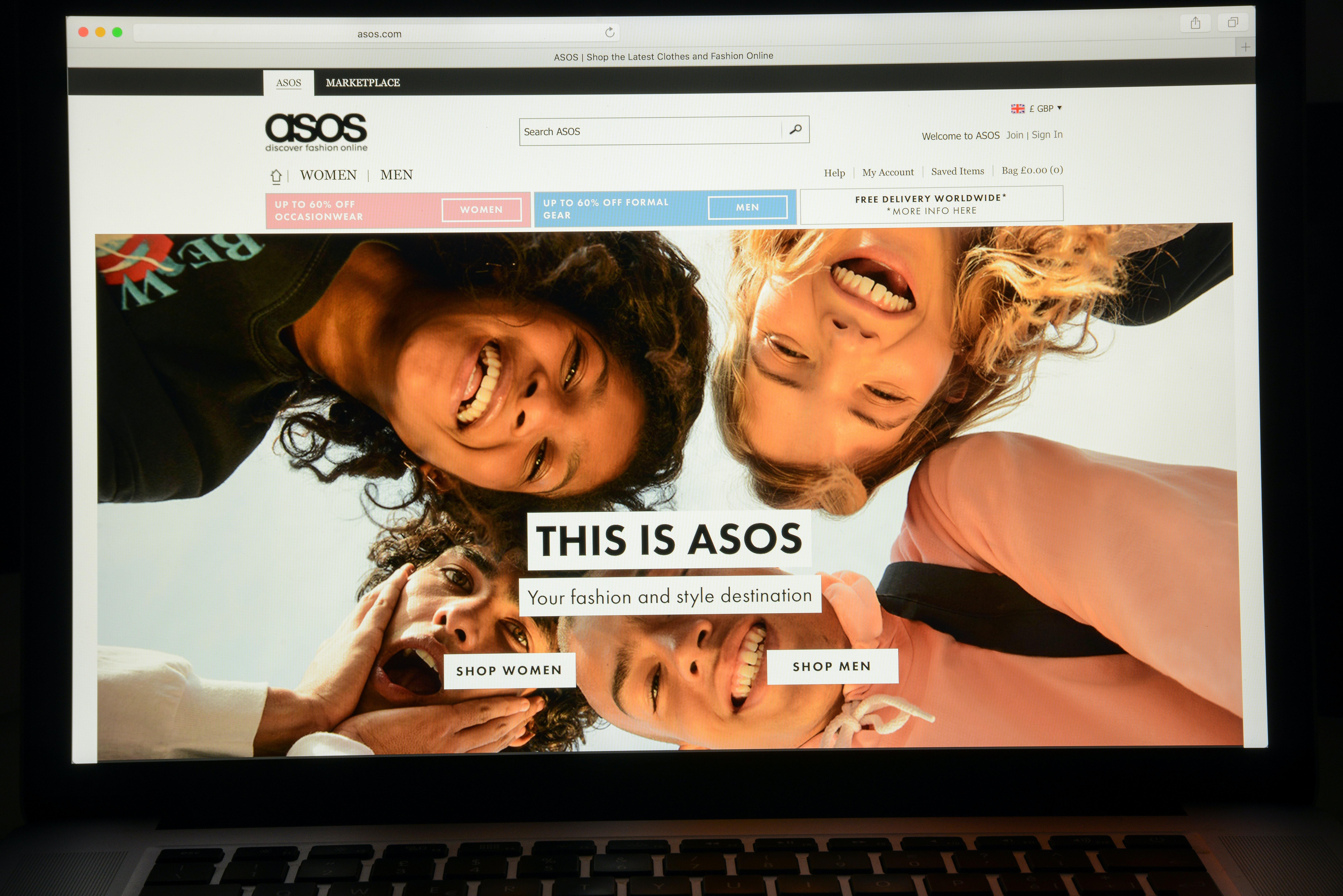 ASOS website   Source: Shutterstock