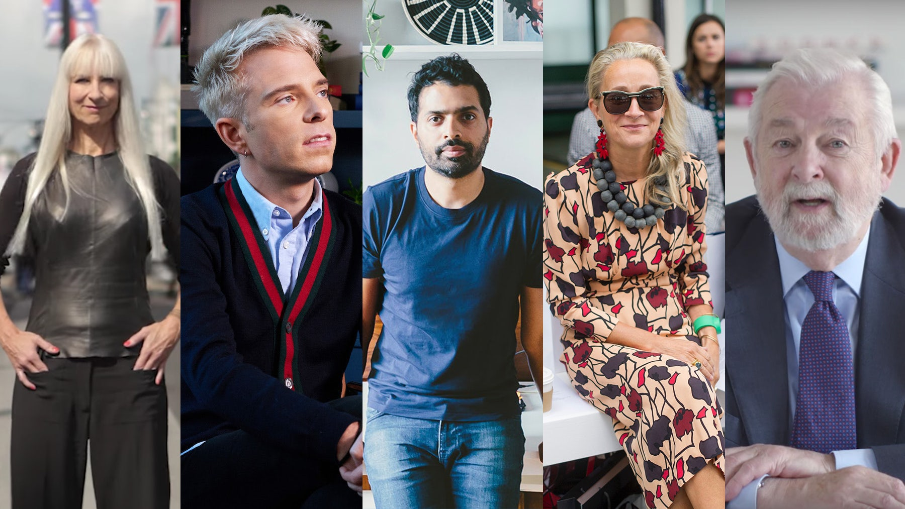 BoF Education Tutors | Lucinda Chambers | Source: Getty | Susanne Tide-Frater, Drew Elliott, Musa Tariq and Colin McDowell MBE | Source: BoF