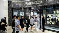 Line for Hiroshi Fujiwara x Moncler outside Moncler's Taipei flagship | Source: Courtesy