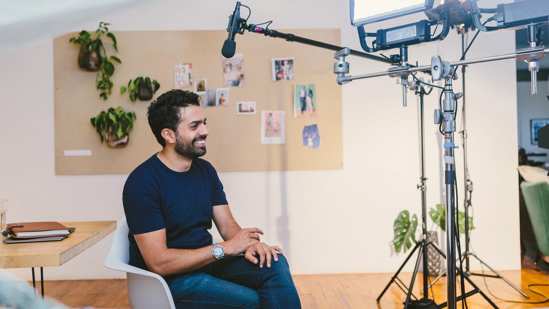 Musa Tariq on set | Source: BoF