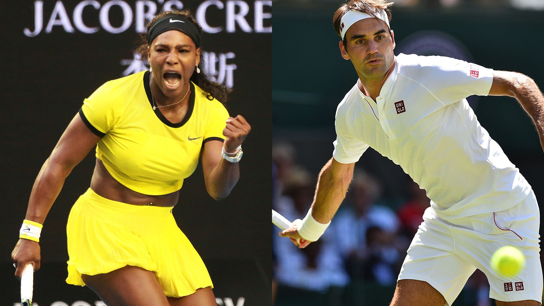 Serena Williams and Roger Federer | Source: Shutterstock, Getty