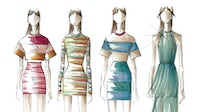 Sketches for the Herve Leger relaunch by designer Christian Juul Niesen | Source: Courtesy