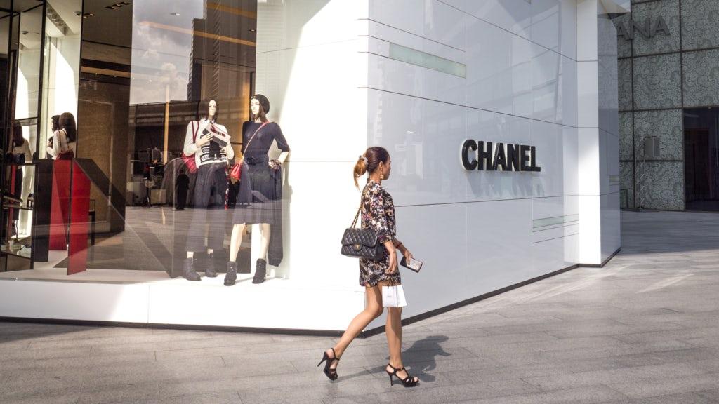 Woman shopping at Chanel