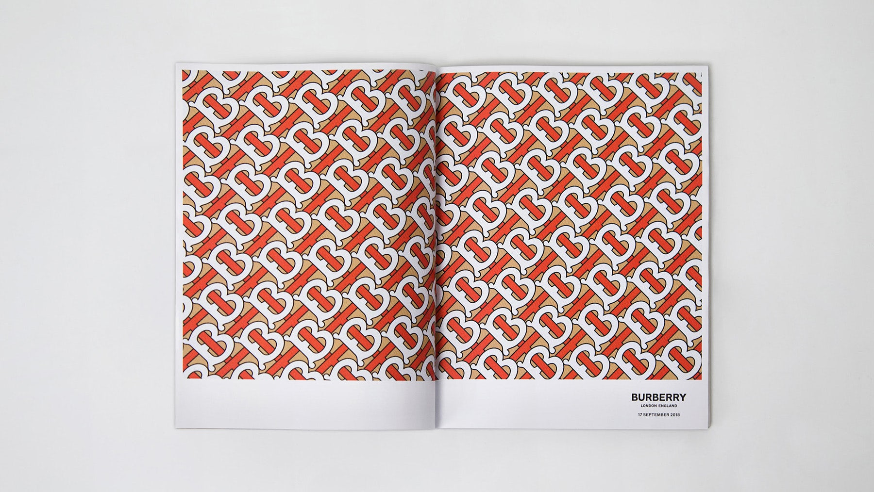 Burberry's new monogram developed by Riccardo Tisci in collaboration with Peter Saville | Source: Courtesy